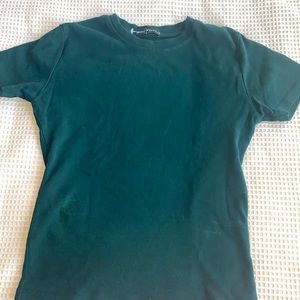 Brandy Melville crewneck Tee- green- size XS/S